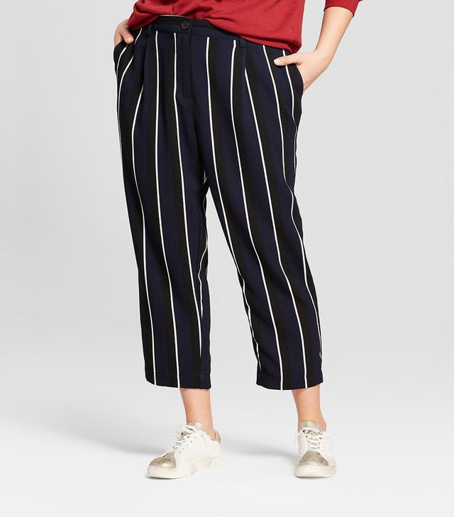 Who What Wear Stripe Crop Pants