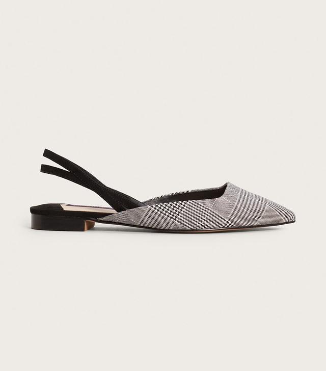 Slingback check shoes