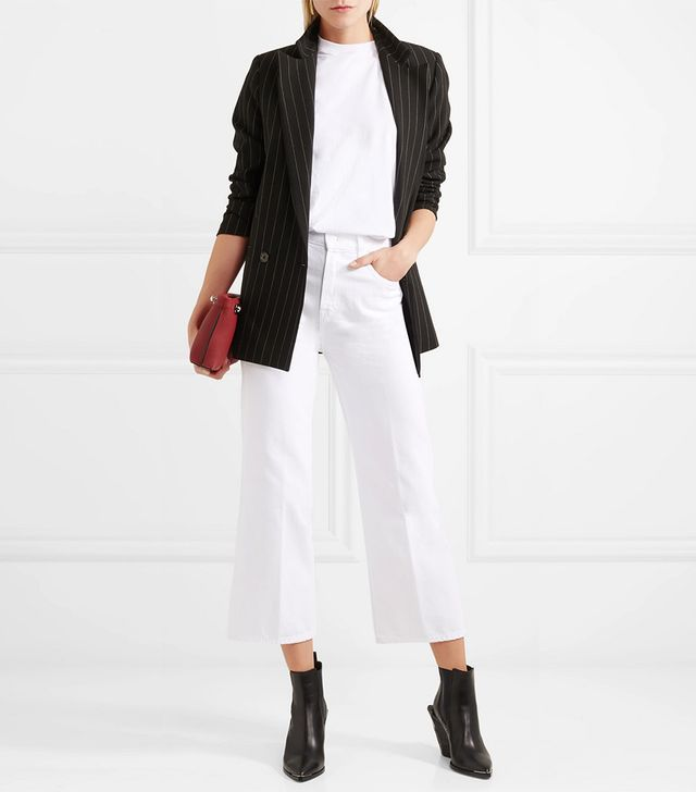 Joan Cropped High-Rise Flared Jeans