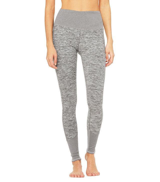 Alo High-Waist Lounge Leggings in Dove Grey Heather