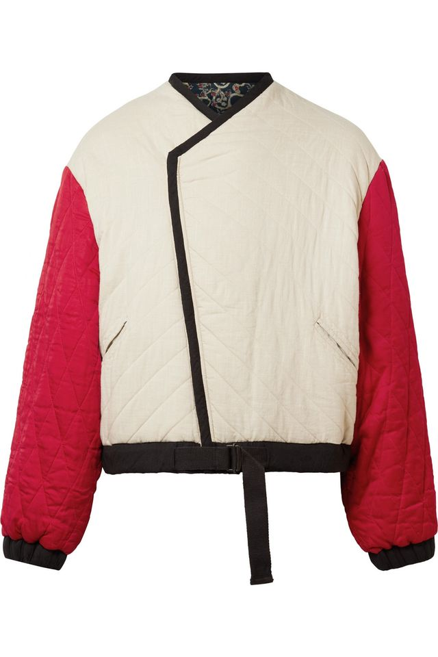 Isabel Marant Étoile Hanae Reversible Quilted Cotton Jacket