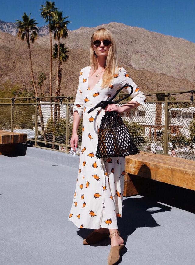 Shoe styles to wear with dresses: Jeanette Madsen