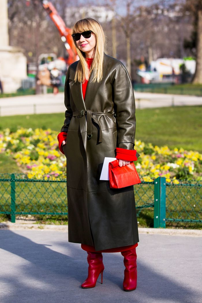 Here S Exactly What To Wear With Red Shoes Who What Wear