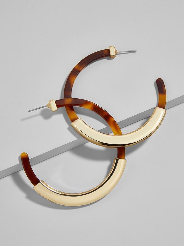 Tassiana Hoop Resin Earrings