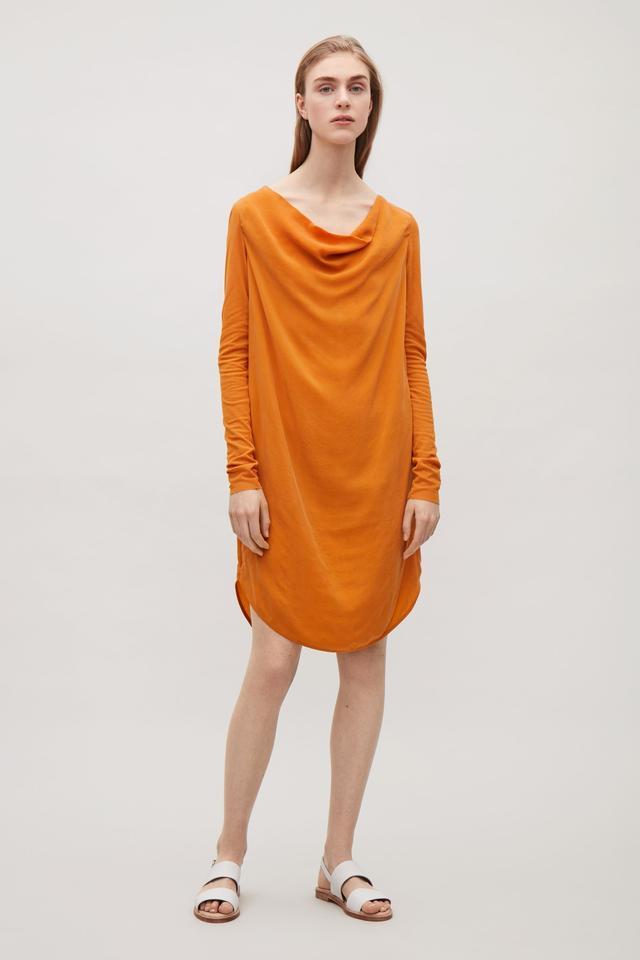 COS Dress With Draped Neckline