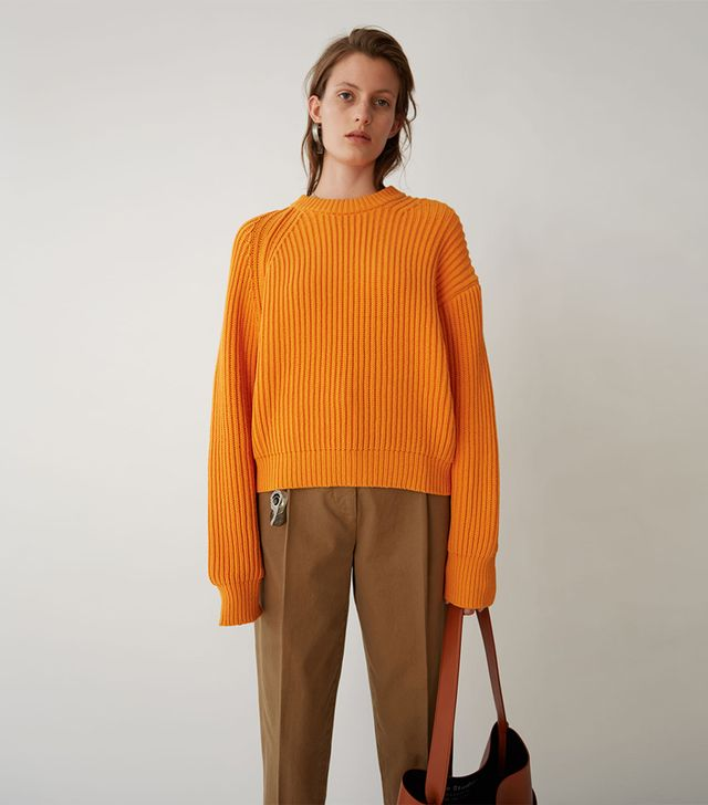 Acne Penina Chunky Bright Orange