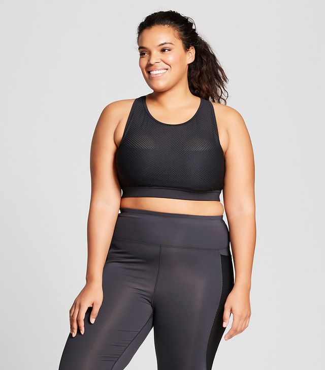 Plus Size Plus Performance Mesh Layer Sports Bra