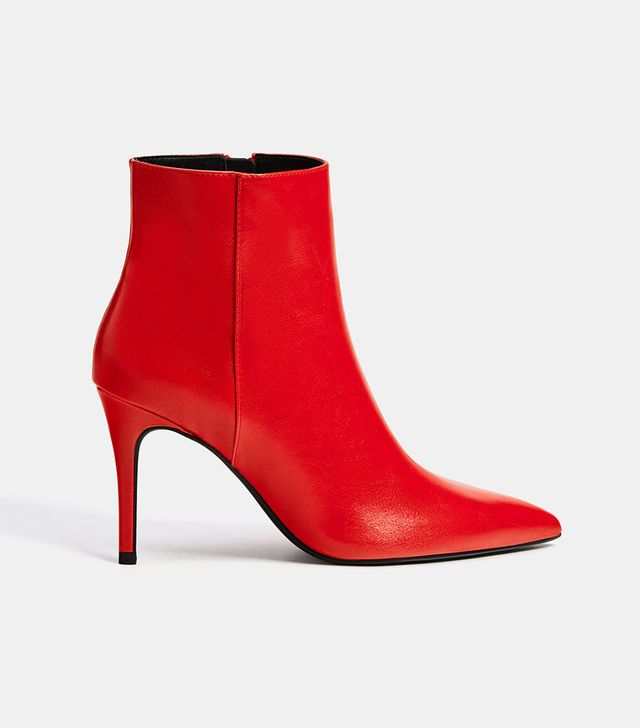 Bershka Stiletto Heel Ankle Boots With Pointed Toes