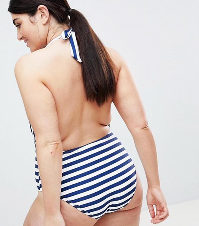 Plunge Stripe Swimsuit