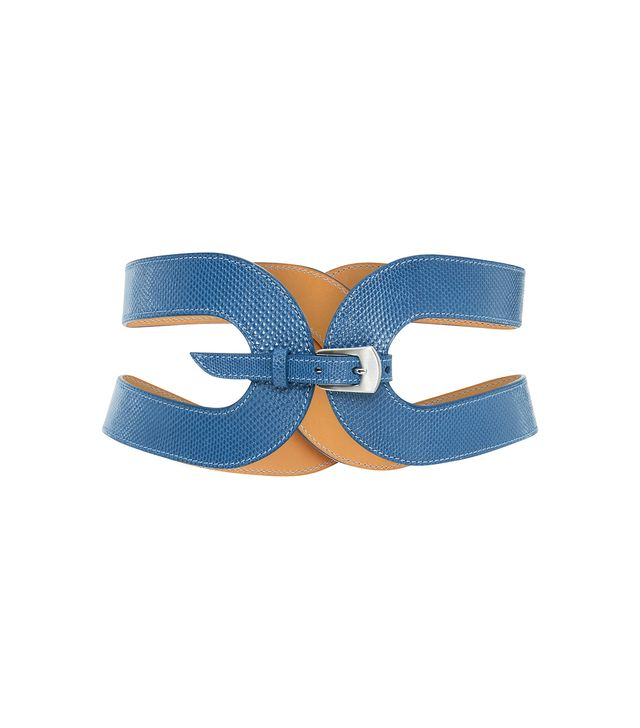 The Cage Snake Skin Waist Belt