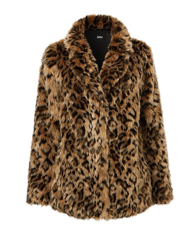 Sportsgirl Leopard Faux Fur Coat