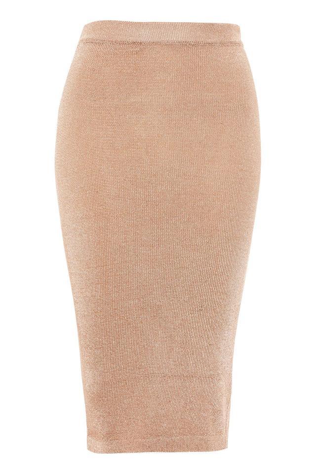 Topshop Mettalic Yarn Midi Skirt