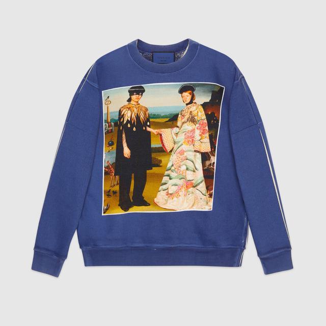 Gucci #GucciHallucination Print Sweatshirt
