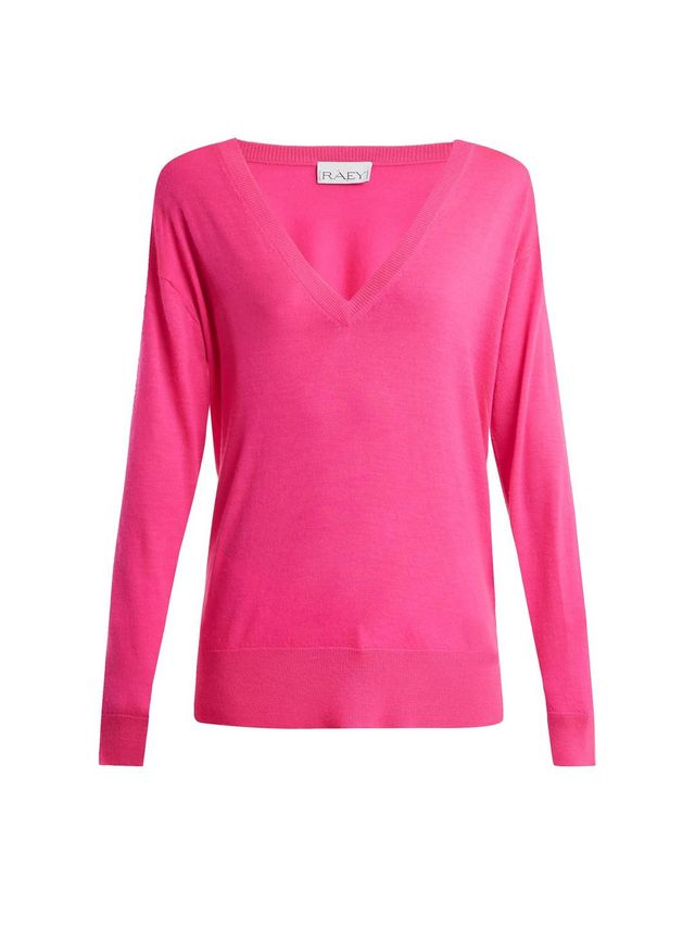 V-Neck Fine-Knit Cashmere Sweater