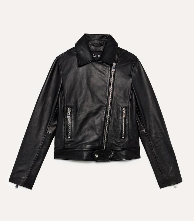 Aritzia Talula Hendrix Leather Biker Jacket
