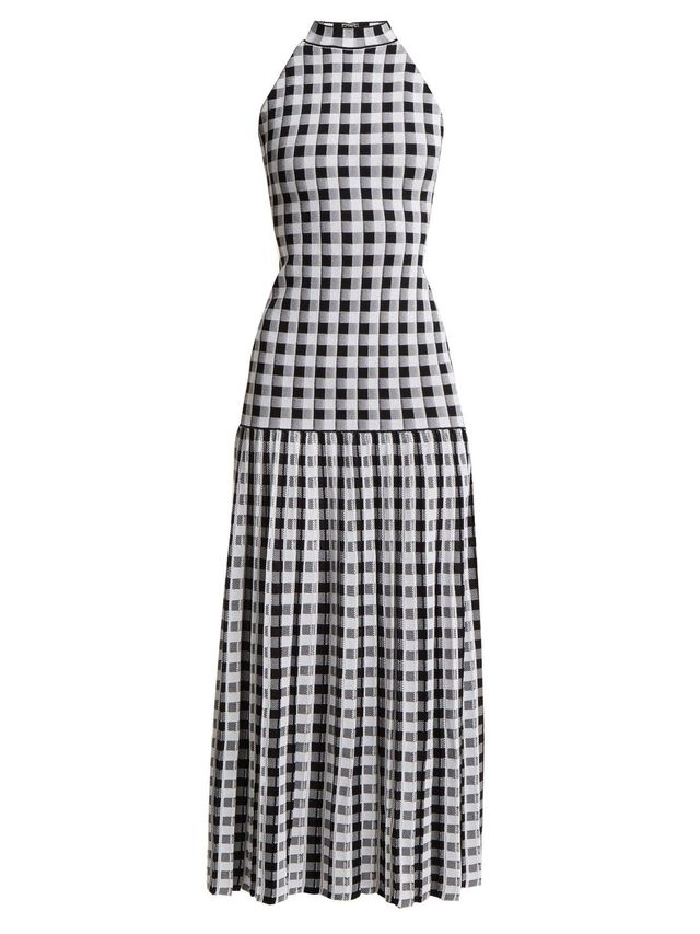 Knitted Gingham Dress