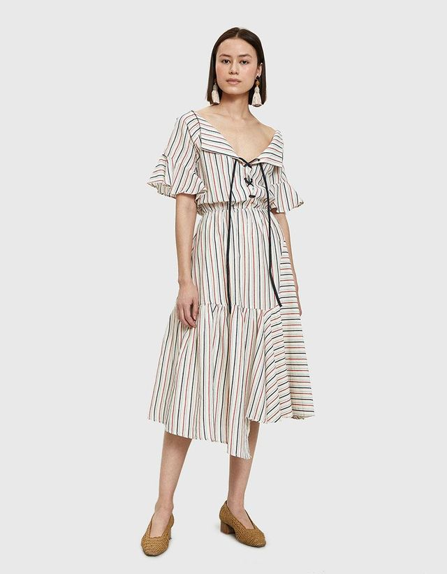 Mora Dress in Multi Stripe
