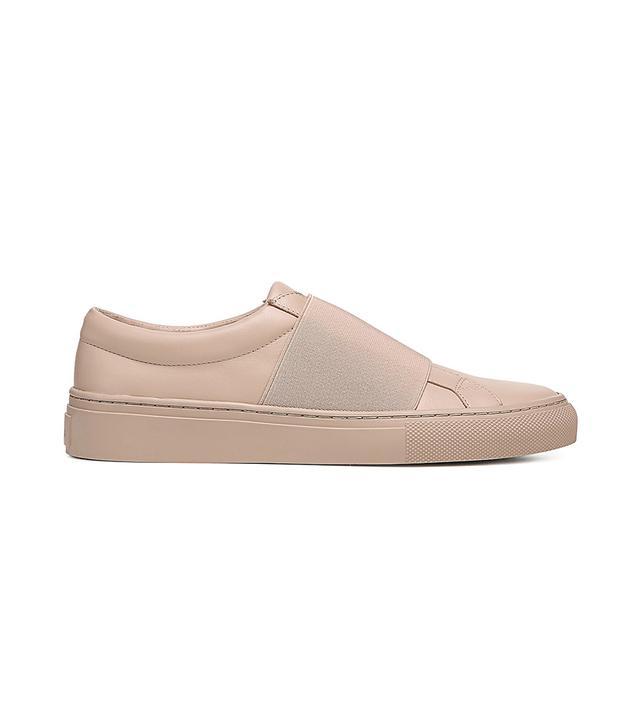 Women's Saran Leather Slip-On Sneakers