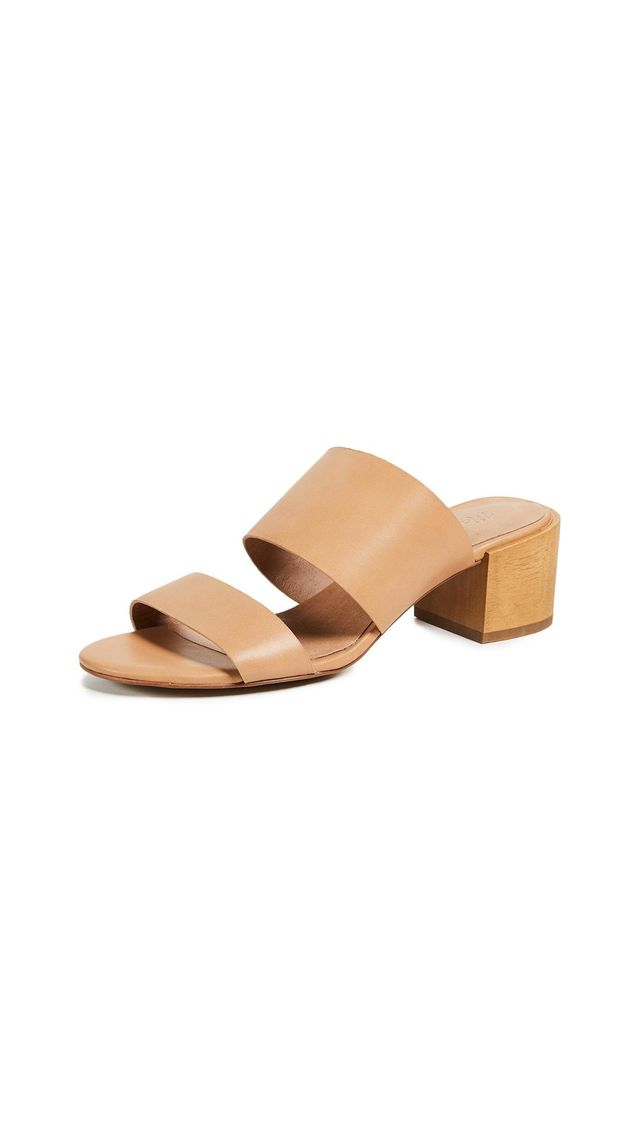 Olivia Two-Strap Mule Sandals