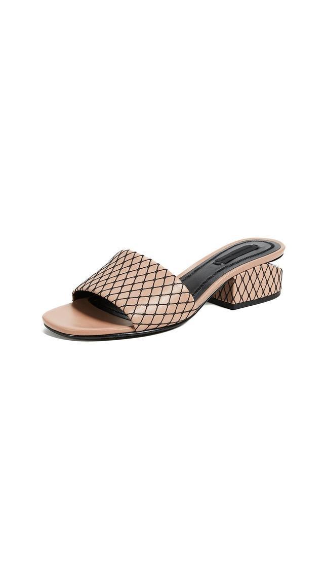 Lou Low Heel Slide Sandals