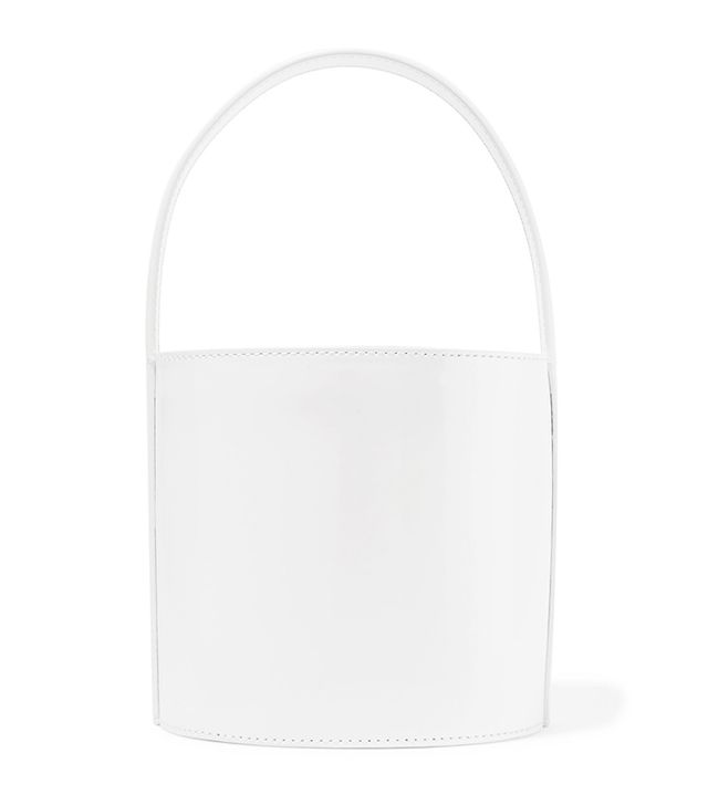 Staud Bissett Patent-Leather Bucket Bag