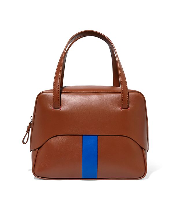 Tibi Mignon Striped Leather Tote