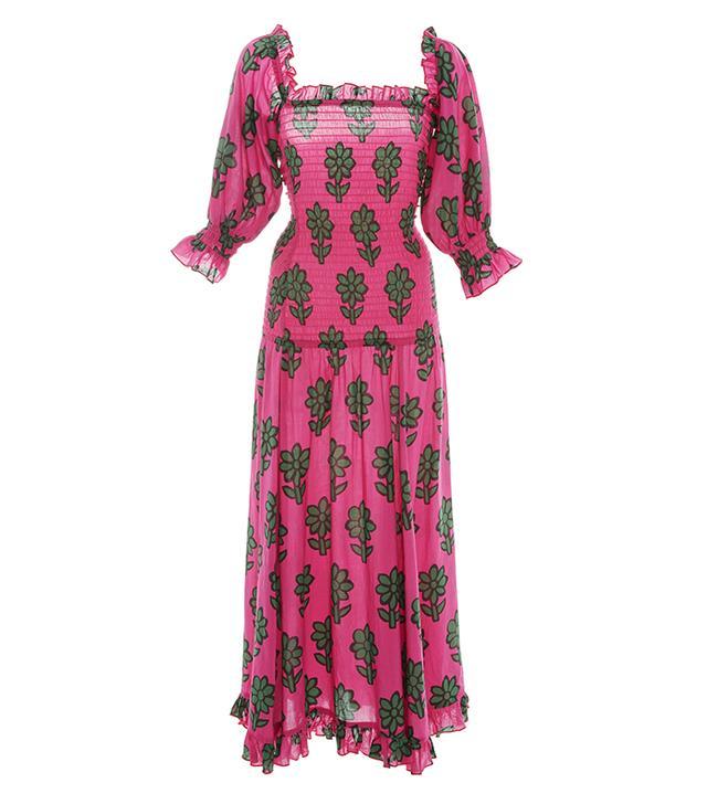 Eva Smoked Drop Waist Dress