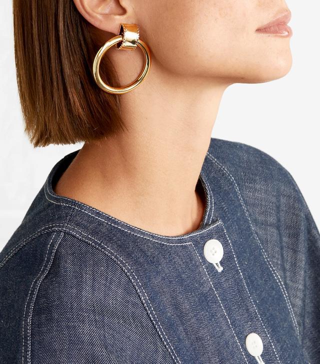 Ruota Gold-tone Hoop Earrings
