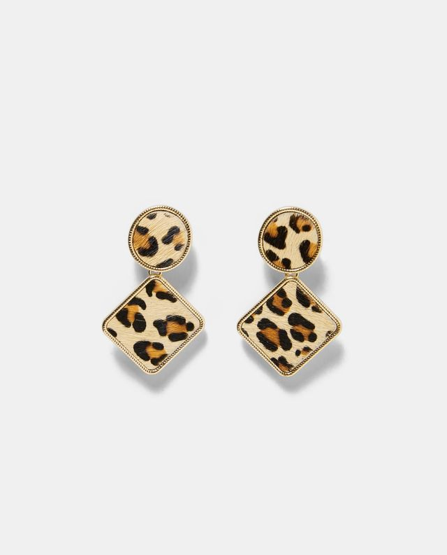 Zara Leopard Print Earrings
