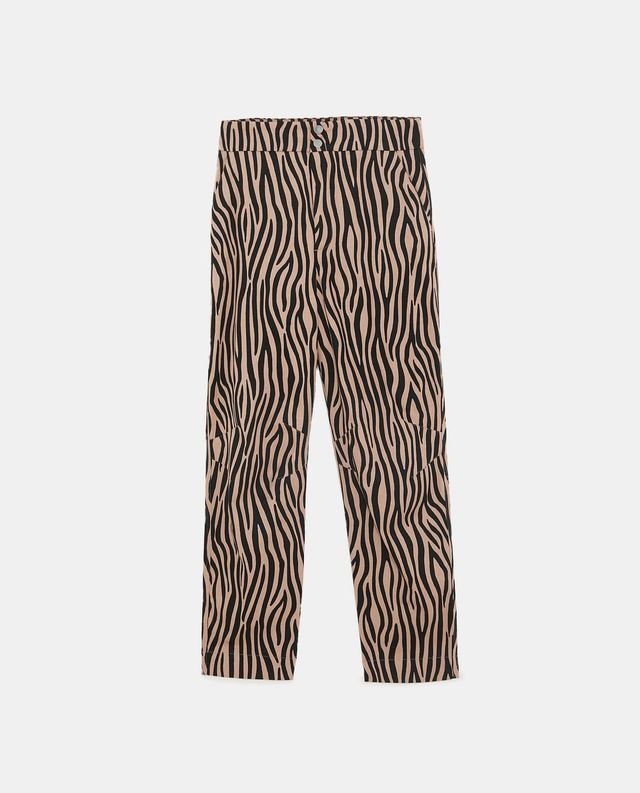Zara Two-Tone Printed Trousers
