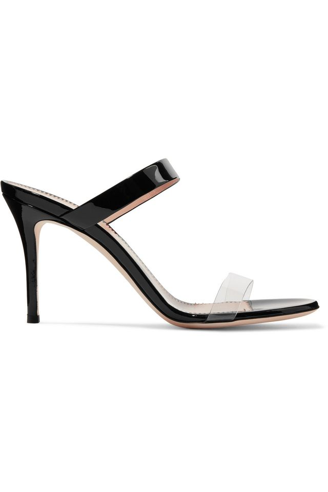 Giuseppe Zanotti Ali 90 Patent-Leather and Perspex Sandals
