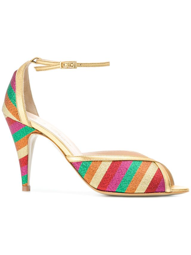 Lenora Striped Sandals