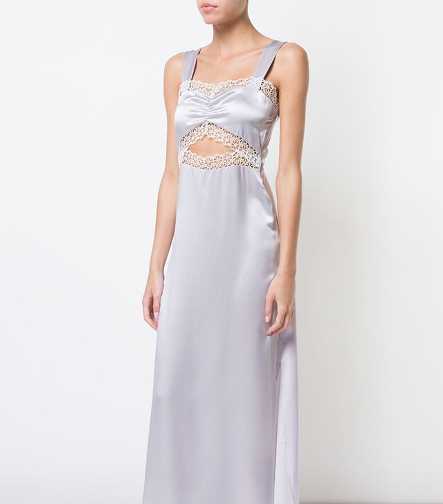 lace detail Joana nightgown