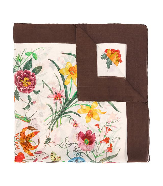 60's floral print scarf