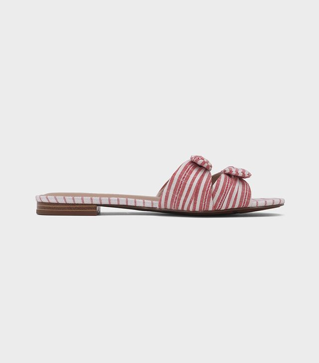 Florence Striped Bow Slide Sandals