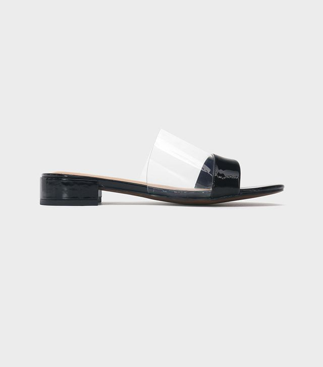 Piper Lucite Heeled Slide Sandals