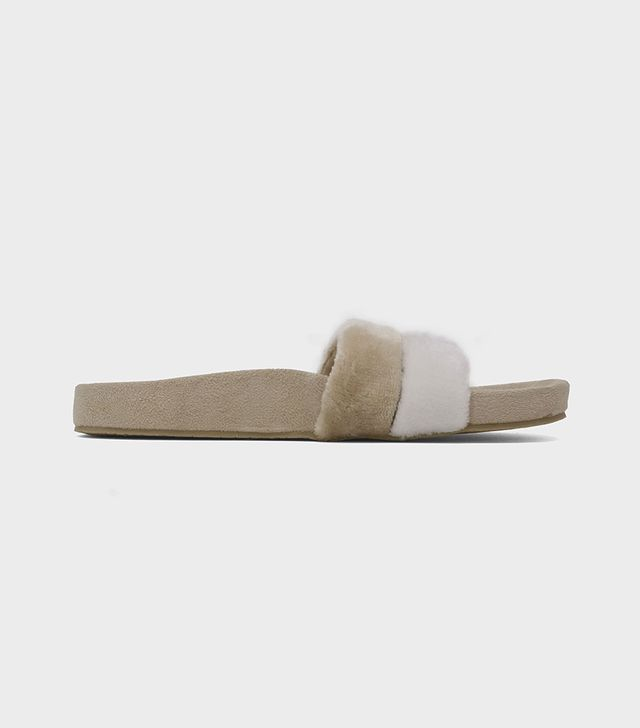 Frances Terry Cloth Pool Slide Sandals