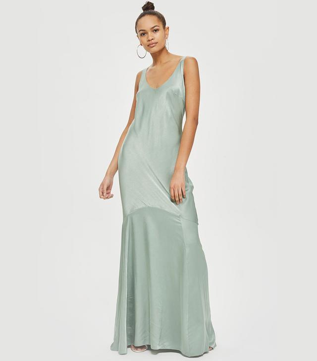 Satin Fishtail Gown Dress