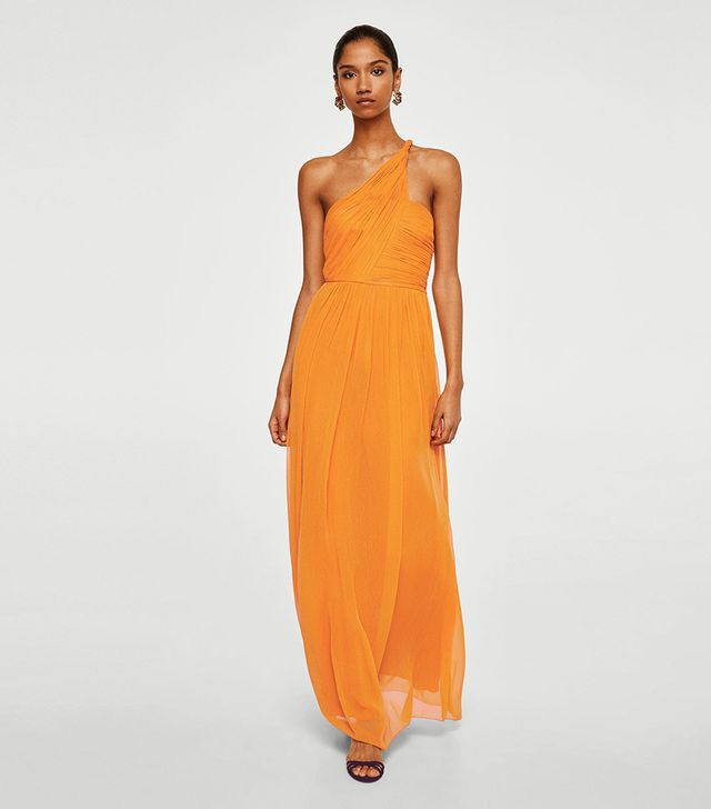 Mango Asymmetric Wrapped Gown