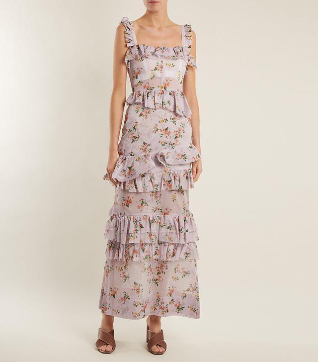 Darwin Floral-Print Cotton-Voile Dress