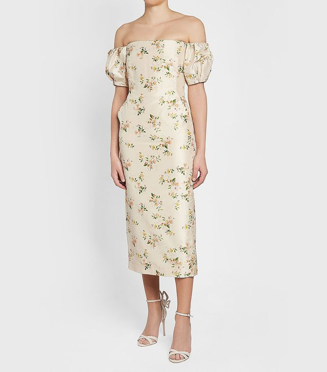 Brock Collection Printed Silk Dress