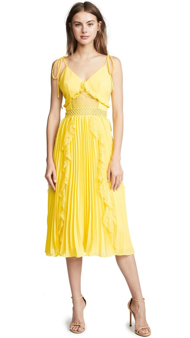 Ruffled Pleats Dress