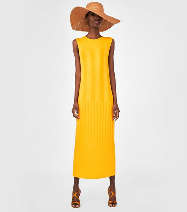 Zara Contrasting Ribbed Dress