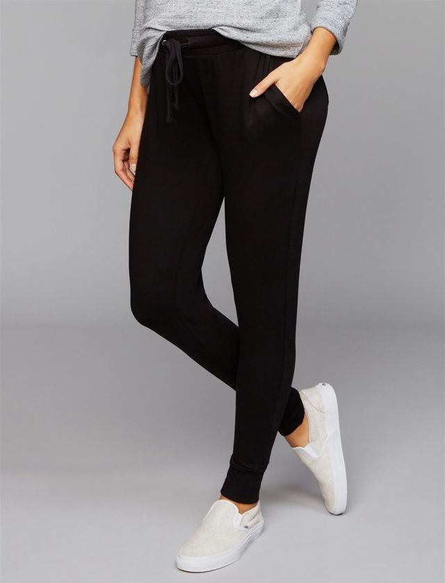 Under Belly French Terry Maternity Jogger Pants