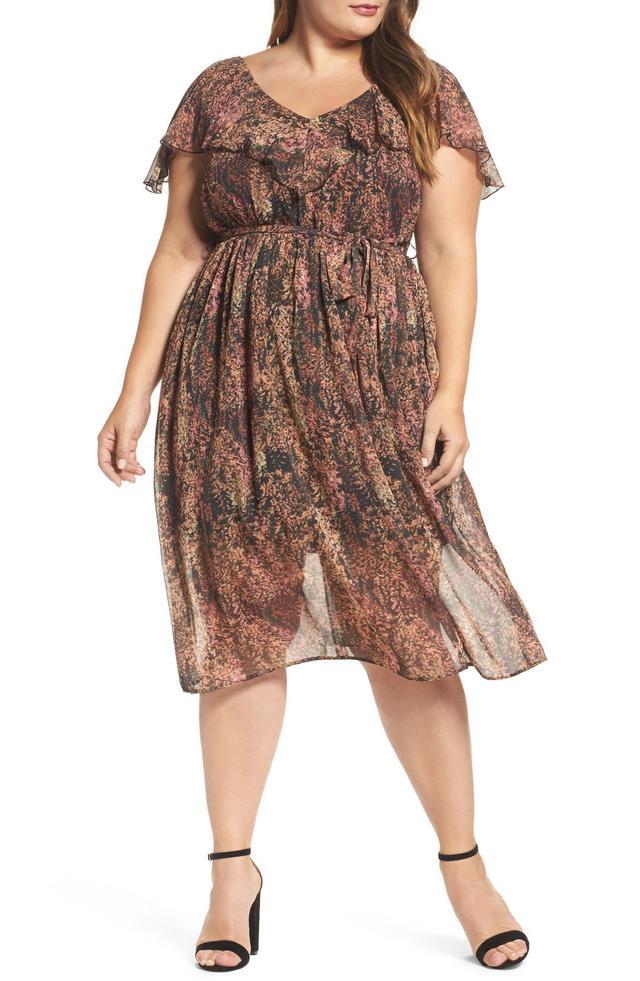 Rustic Floral A-Line Dress