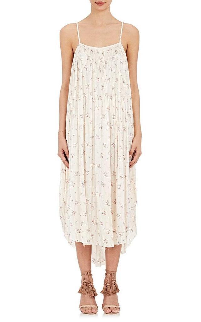 Mille Floral-Print Charmeuse Midi-Dress