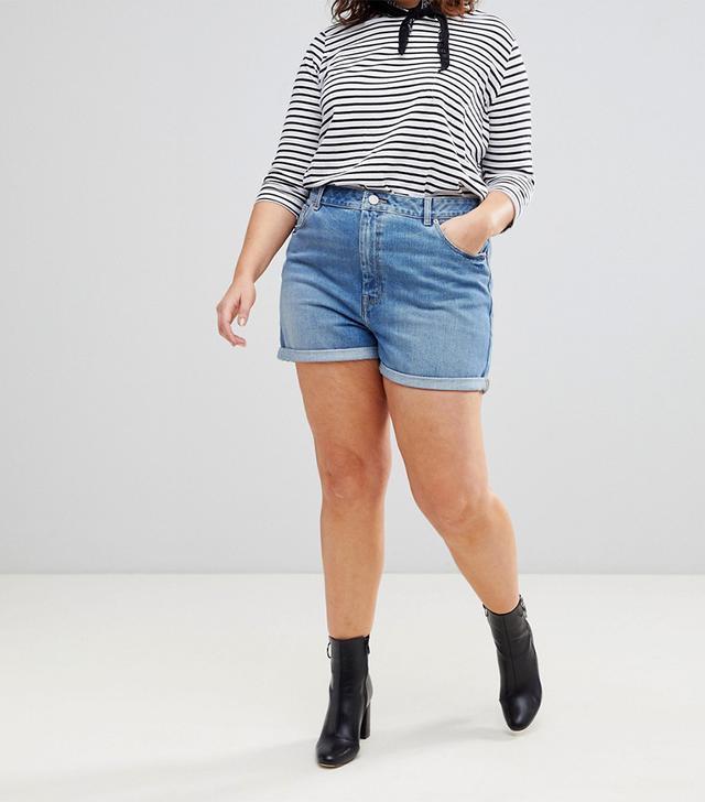 best plus size denim shorts