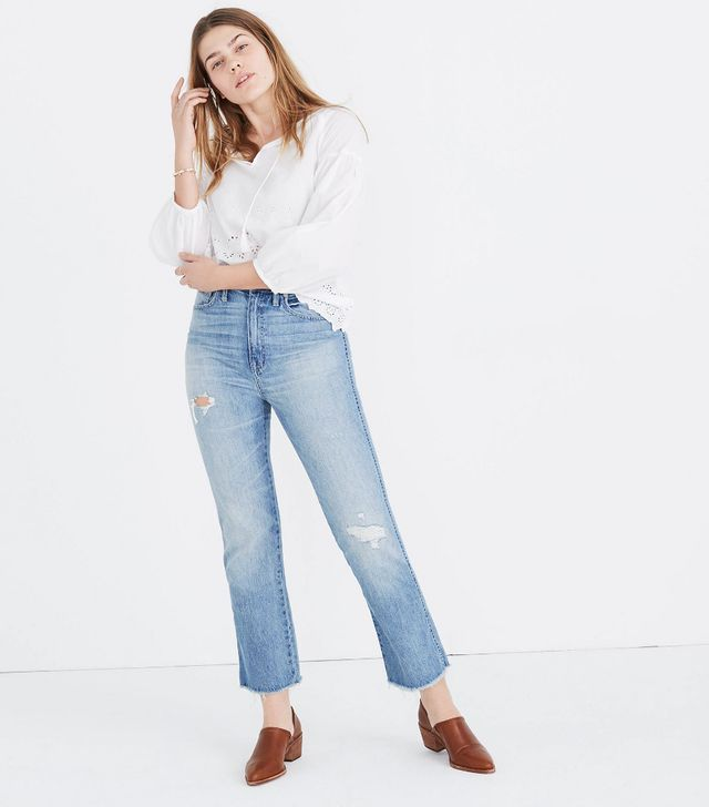 Madewell Rigid Demi-Boot Crop Jeans