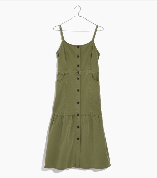 Madewell Bayview Tiered Midi Dress
