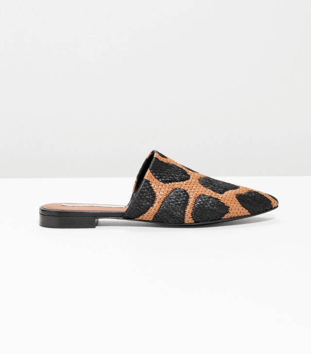 & Other Stories Woven Spot Slip Ons